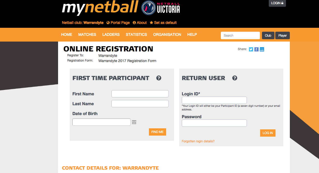 warrandyte netball registration