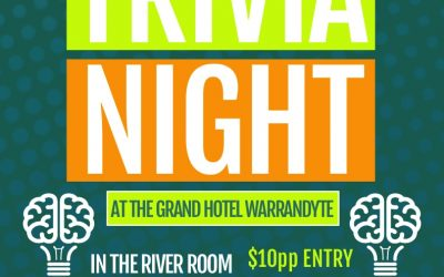 WNC Trivia Night 23rd August, 7pm.