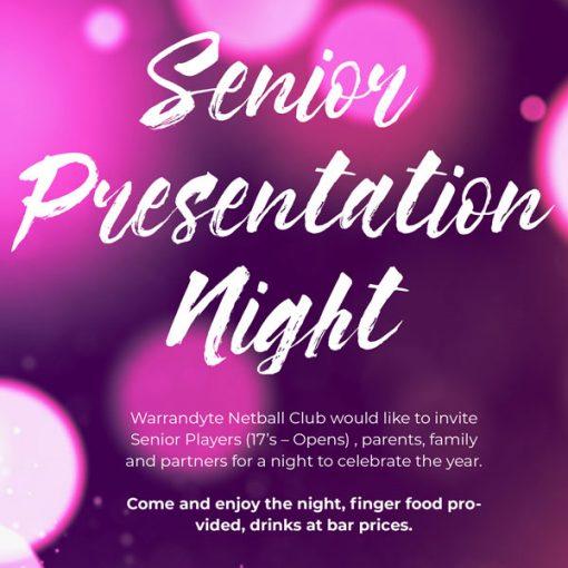 seniors presentation night