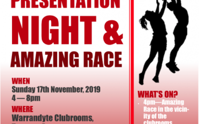 Junior Presentations Saturday 17th November